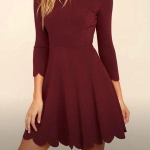 Lulu's Burgundy Dress